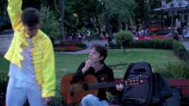 The unexpected performance of 'Love Of My Life' in Odessa City Garden. 'The final chord'.