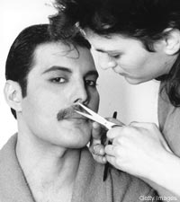 Freddie Cutting Moustache