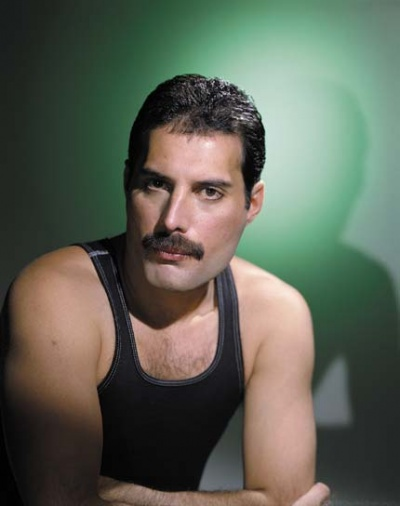 Freddie Mercury with moustache - The Works album