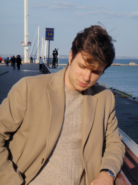 Stas Sagdeyev in the seaport on his birthday